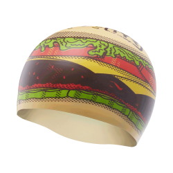 Hamburger Swim Cap