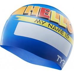 Hello My Name Is Jr. Swim Cap